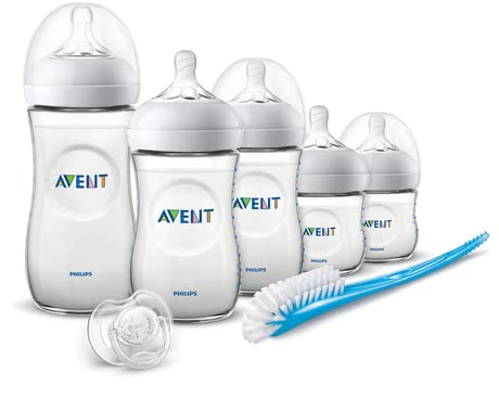 Philips AVENT Natural Newborn Starter Set -  * A set for a successful start in life. From the bottle in different sizes, teats or the soother: combining breastfeeding and bottle feeding is now even easier with the Natural teats.