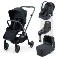 Recaro Sadena 3-in-1 travel system incl. ISOFIX Base -  * The perfect companion for every situation right from the very first day! The Recaro Sadena 3-in-1 travel system comes with a seat unit, carrycot and the Avan infant car seat. Attached to the compact Sadena frame, each component stands out as the ideal companion in an urban environment.