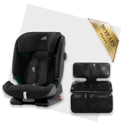 Britax Römer Advansafix i-Size including Car Seat Protector Cosmos Black 2020 - large image