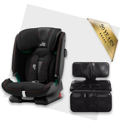 Britax Römer Advansafix i-Size including Car Seat Protector Cool Flow - Black 2020 - large image