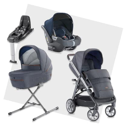 Inglesina Aptica System Quattro DARWIN i-Size Bundle including Base Tailor Denim 2020 - large image