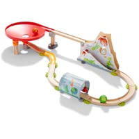 HABA Kullerbü – Kugelbahn Drachenland - from 24 months, with fast-paced ball funnel and flexible kite tunnel with bells, brings even more action to the Kullerbü game, many parts and exciting ef...