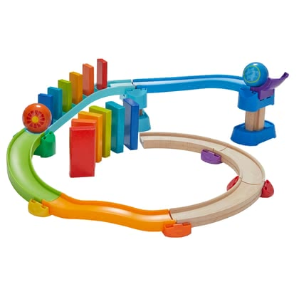 HABA Kullerbü – Kugelbahn Kringel-Domino - from 24 months, a colorful ball track set from the popular ball track series Kullerbü from HABA, lightning-fast and colourful cuddling fun, depending on ...