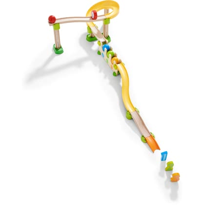 HABA Kullerbü – Kugelbahn Zahlen- und Farbenrallye - With the lovingly designed Kullerbü – Ball Track Number and Colour Rally from HABA, children experience versatile play and learning pleasure.