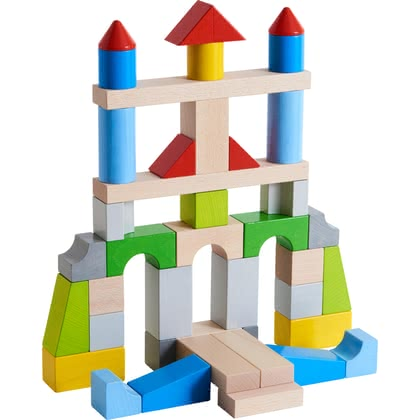 HABA Bausteine – Große Grundpackung, bunt - from 12 months, THE large colorful building blocks basic pack from HABA offers unlimited construction and play fun, varied colours and shapes of the buil...