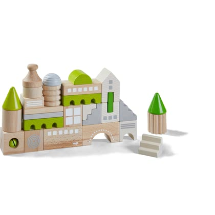 HABA Bausteine Coburg - from 18 months, the HABA building blocks Coburg can be stacked again and again into a new city backdrop, playfully promote fine motor skills and eye-hand...
