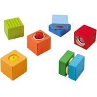 "HABA Discovery Blocks ""Fun with Sounds"" -  * Squeaking, clacking, rattling, tinkling - with each building block your child can discover different exciting noises and sounds."