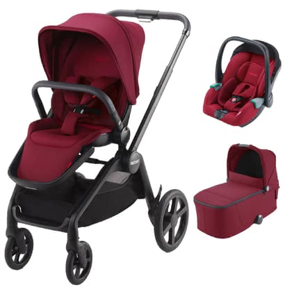 Recaro Celona 3-in-1 Travel System - * The perfect companion for every situation right from the very first! The Recaro Celona 3-in-1 travel system comes with a seat unit, carrycot and the Avan infant car seat. When attached to the compact Celona frame, this system stands out as the ideal companion in an urban environment.