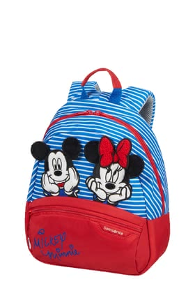 "Samsonite Disney ""Minnie & Mickey"" Stripes Backpack - ✓Children's backpack in Minnie & Mickey style ✓particularly light in weight ✓for tots from 3 years ✓ergonomic ✓padded back for optimum support ✓2 compartments"
