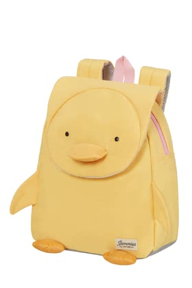 Samsonite Happy Sammies Eco - Children's backpack Duck Dodie - ✓Eco-friendly material ✓for children from 2 years ✓excellent ergonomics ✓highest wearing comfort ✓chest strap ✓unique 3D appliqués