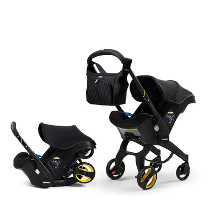 Doona+ Mobile Infant Car Seat Special Edition Midnight -  * A striking, full black design and elegant, advanced details – Doona presents the Special Edition Midnight. A trendy look for modern parents!