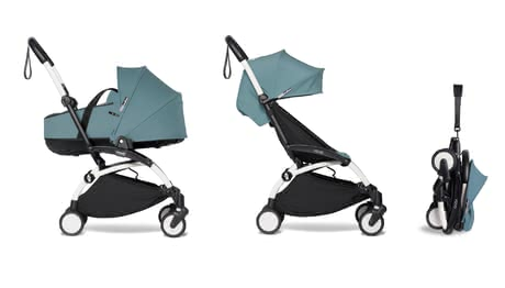 Babyzen YOYO² including Carrycot and Textile Set 6+ aqua 2021 - large image