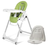 Peg-Perego Highchair Prima Pappa Follow Me incl. Seat Cushion - ✓ multifunctional highchair ✓ from birth ✓ anatomic seat ✓ dream team including reversible seat cushion ✓ Made in Italy