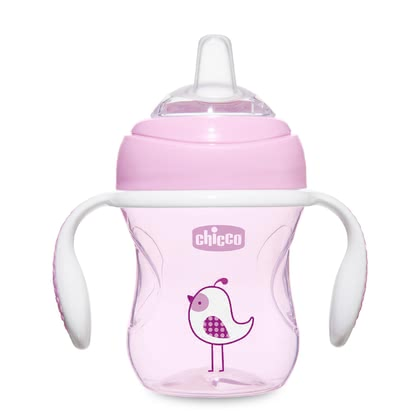 "Chicco ""Transition Cup"" with Silicone Spout -  * ✓ Learner cup with ergonomic handles ✓ soft silicone drinking spout ✓ leak-proof ✓ hygienic cap ✓ holds 200 ml ✓ ideal for breastfed babies ✓ BPA-free"
