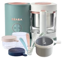 Béaba 4in1 Babycook NEO in an Exclusive Bundle -  * ✓4in1 food processor ✓modern ✓ gentle ✓fresh preparation ✓healthy ✓pasta and rice cooker ✓ glass containers ✓exclusive bundle ✓feeding spoon in a set of 4