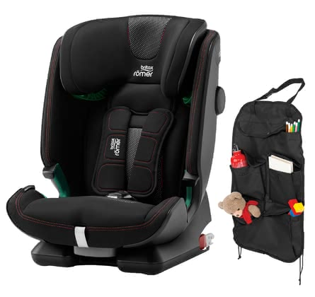 Britax Römer Child Car Seat Advansafix i-Size incl. Car Seat Organizer -  * ✓Safety according to i-Size standard ✓XP-PAD ✓SecureGuard ✓EasyRecline ✓incl. car seat organizer ✓ relaxed car ride ✓ from approx. 15 months ✓ easy installation and conversion ✓ bundle ✓ Made in Germany