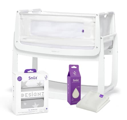 Snüz Pod4 Bundle including Bed Linen Set and Mattress Protector - ✓ 3in1 function ✓ exclusive bundle ✓ including mattress protector ✓ bed linen set ✓ 3D mesh cover ✓ ventilation slots ✓ from birth ✓ height adjustment