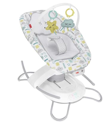 Fisher-Price 2-in-1 Glider with Smart Connect -  * ✓ Baby swing and bouncer in one product ✓ 2 rocking motions ✓ 6 speed levels ✓ 16 melodies and natural sounds ✓ Smartphone app