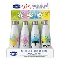 "chicco ""Drinky"" Thermal Bottle made of Stainless Steel -  * ✓ holds 350 ml of your favourite drink ✓ keeps the temperature for approx. 6 hours ✓ leak-proof screw cap ✓ sustainable and free from harmful substances"