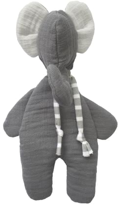 "Odenwälder Babynest Cuddly Muslin Toy ""Elephant"" -  * ✓ Cuddly toy of high-quality muslin ✓ skin-friendly ✓ 100% natural fibre cotton ✓ washable and suitable for tumble drying"
