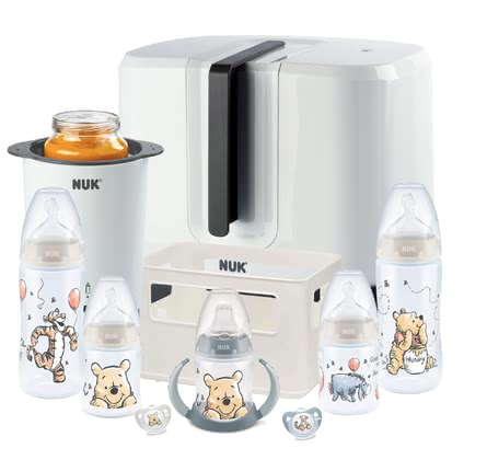 "NUK Perfect Starterset mit Temperature Control Disney - Our NUK Starter Set Exclusive ""Winnie Pooh"" includes the first basic equipment for a happy and relaxed start with your baby."