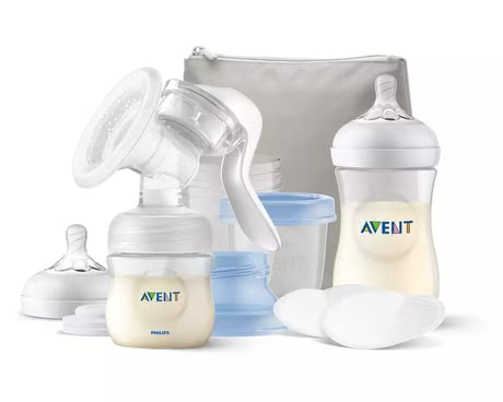 Philips AVENT Breastfeeding Set including Manual Breast Pump -  * The extensive Philips AVENT breastfeeding set including manual breast pump contains everything you need to have a carefree start with your little one.