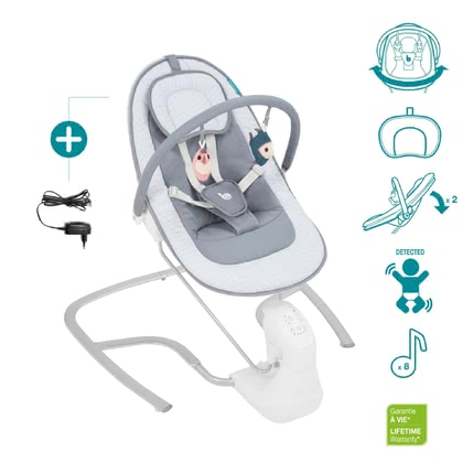 "Babymoov Electric Baby Bouncer ""Swoon Light"" -  * With the electric baby bouncer ""Swoon Light"" by Babymoov, your baby is provided with first-class bouncing fun."