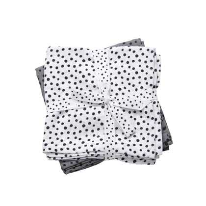 Done by Deer Pucktuch 2er-Pack Happy dots - Done by Deer's breathable muslin puck wipes are great everyday helpers for you and your baby.